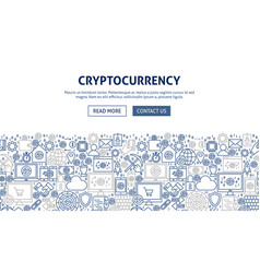 Cryptocurrency banner design vector