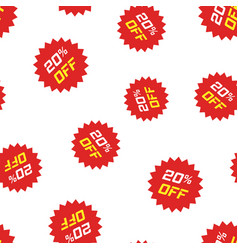 discount sticker icon seamless pattern background vector image