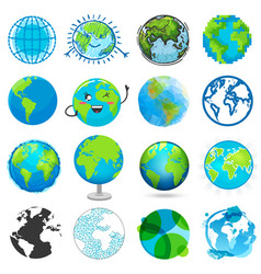 earth planet global world universe and vector image