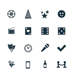 Entertainment icons set vector