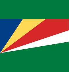 flag in colors of seychelles image vector image
