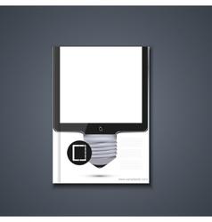 flyer or banner Brochure template vector image