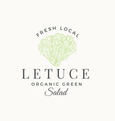 Fresh local lettuce salad abstract sign vector