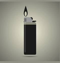 gas lighter in black and white colors vector image