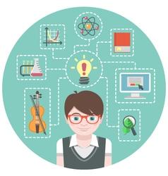 Genius Boy Concept vector image