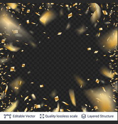 golden festive tinsel confetti blurred in motion vector image