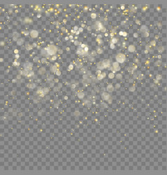 Golden glitter christmas effect eps 10 vector