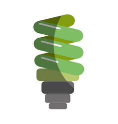 Green save bulb energy icon vector