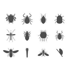 Human skin parasites silhouette housing vector
