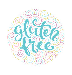 label gluten free vector image