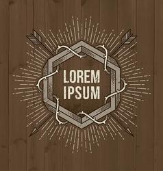 line art vintage emblem vector image