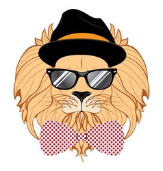Lion Hipster vector