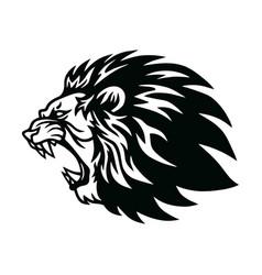 Lion roaring head logo icon design vector