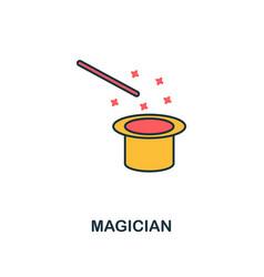magician icon creative 2 colors design vector image