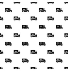 Mail truck pattern vector