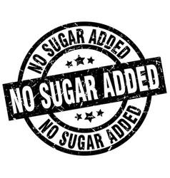 No sugar added round grunge black stamp vector