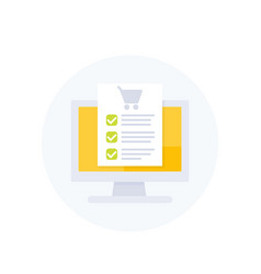 online order purchase form e-commerce vector image