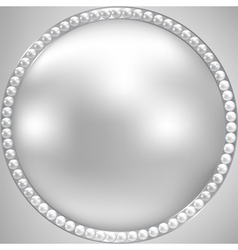 Pearl and silver frame vector