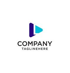 Play media letter l logo design concept template vector
