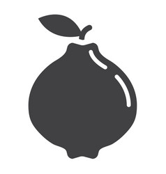 Quince solid icon fruit and diet vector