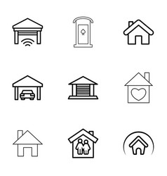 roof icons vector image