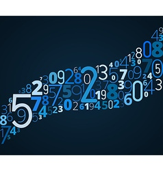 S-shape font from numbers vector