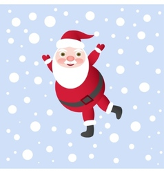Santa Claus for Christmas Card vector image