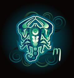 Scorpio zodiac sign horoscope vector