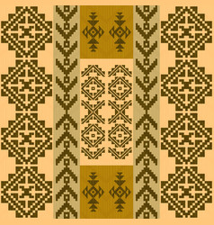 Seamless pattern with traditional native american vector