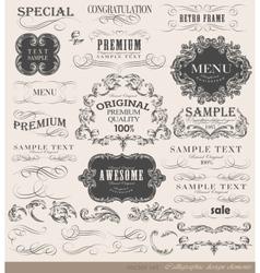 set calligraphic vector image