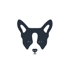 silhouette dog head icon dog face simple design vector image