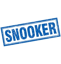 Snooker blue grunge square stamp on white vector
