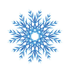 snowflake blue gradient isolated icon on white vector image