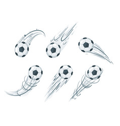 Soccer ball in action vector