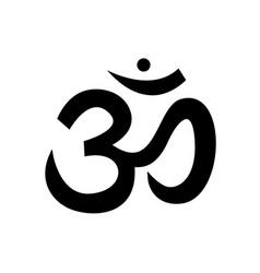 Sound ohm main black symbol sacred mantra pure vector