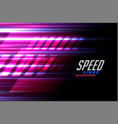 Speed lines racing background for car or motor vector