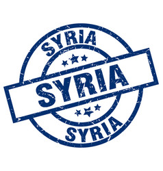 Syria blue round grunge stamp vector