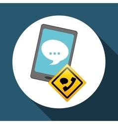 Technical service call center icon support vector
