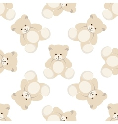 teddy bear seamless vector image