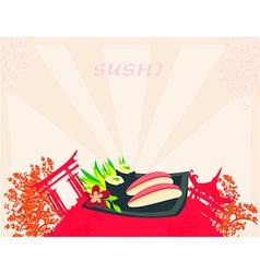 Template of traditional Japanese food menu vector