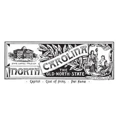 The state banner of north carolina the old north vector