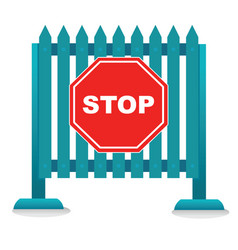 traffic barrier stop sign vector image