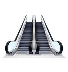 Up And Down Escalators Set vector