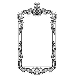 Vintage imperial baroque mirror frame vector