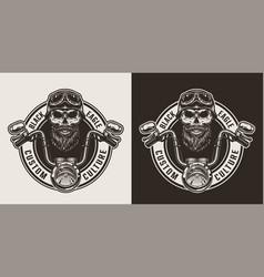 vintage monochrome motorcycle label vector image