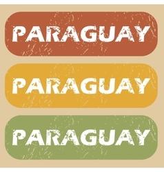 Vintage paraguay stamp set vector