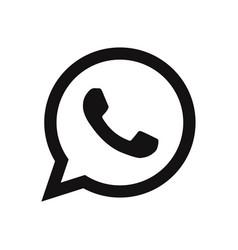Whatsapp logo icon social media symbol vector