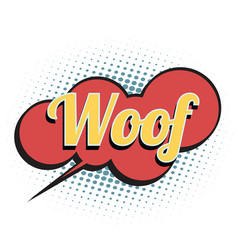 woof comic word vector image
