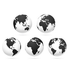 world globe earth map vector image