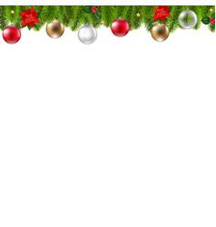 xmas fir tree border vector image